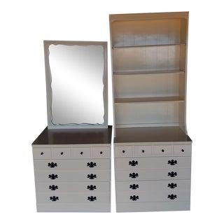 Ethan Allen Ivory Dresser Set For Sale