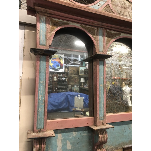 Antique Carousel Panel Mirror For Sale - Image 4 of 8
