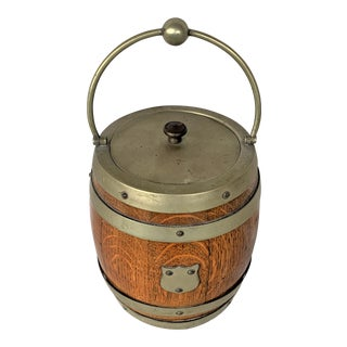 Antique English Biscuit Barrel For Sale