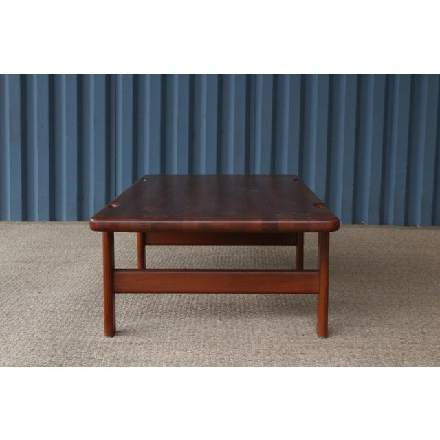 Danish Modern Danish Modern Solid Teak Coffee Table, Denmark, 1960s For Sale - Image 3 of 9