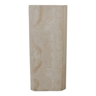 1980s Modern Travertine Marble Pedestal For Sale