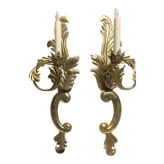 French Rococo Style Dennis and Leen Sconces - a Pair For Sale