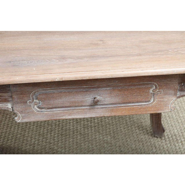 Mid 19th Century French Cerused Oak Writing Table For Sale - Image 5 of 11