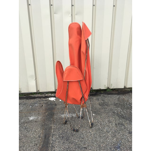 Orange 1950s Mid-Century Butterfly Chair For Sale - Image 8 of 11