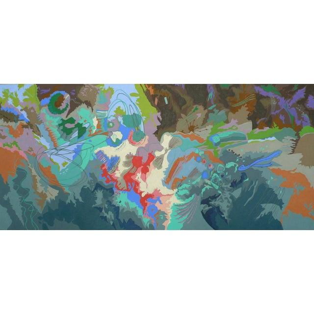 "Title: BIODIVERSITY #15 - 2013 Size: 40"" x 86"" Medium: OIL ON CANVAS *Original artwork, signed by artist Hiroko Yoshimoto."