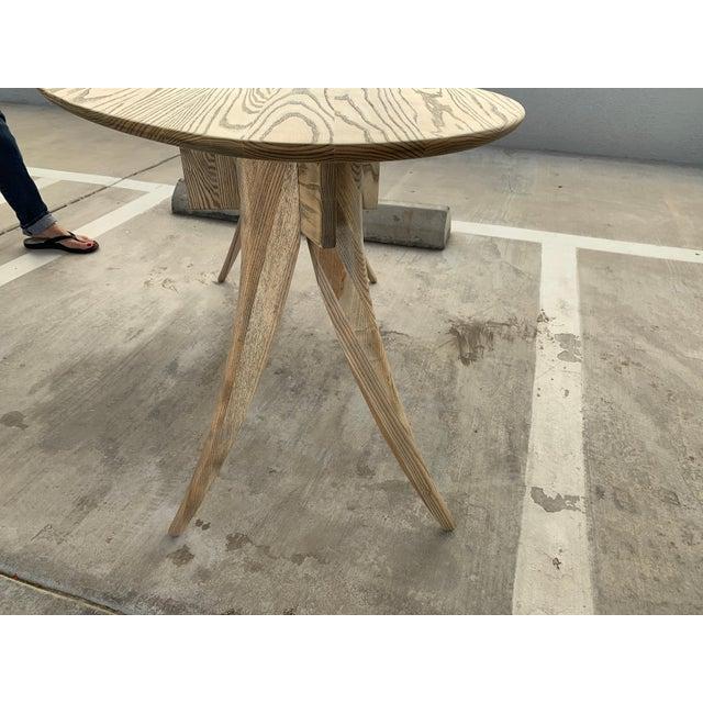 Kidney Biomorphic Shaped Oak Desk For Sale - Image 11 of 13