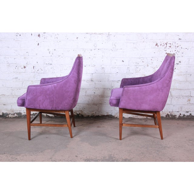 Danish Modern Kipp Stewart for Directional Mid-Century Modern Lounge Chairs, Pair For Sale - Image 3 of 13