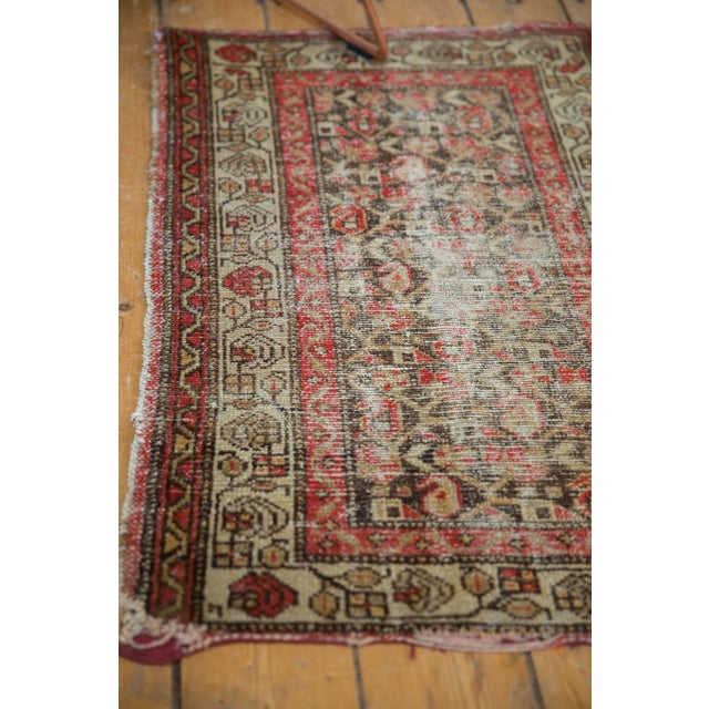 "Textile Antique Hamadan Rug Mat - 2'2"" X 3'2"" For Sale - Image 7 of 11"