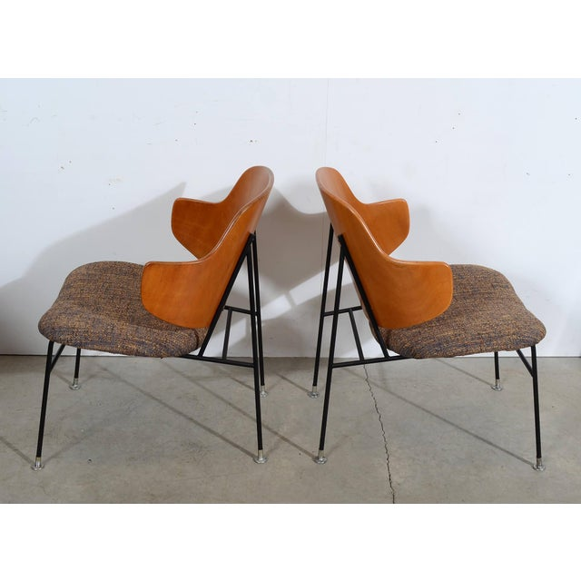 Danish Modern Kofod Larsen Penguin Chairs Danish Modern Lounge Chairs - A Pair For Sale - Image 3 of 6