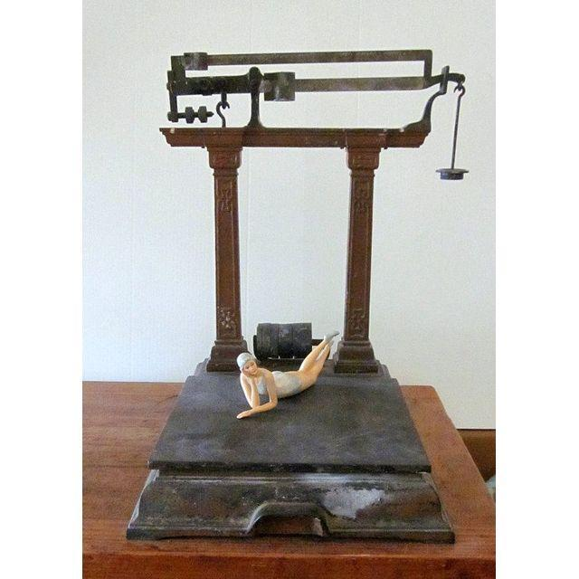 Antique Industrial Brass Scale Steampunk Decor - Image 8 of 9