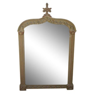 Oversized Late 19th C. Italian Mantel Mirror For Sale