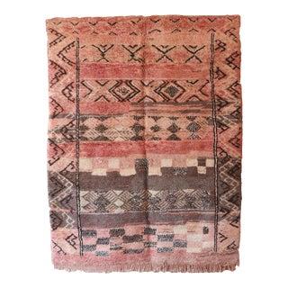 1980s Vintage Pink Moroccan Rug For Sale