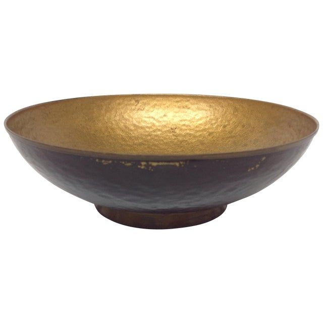 Oppenheim Israel Enameled Brass Bowl For Sale