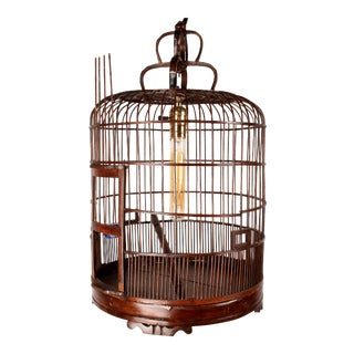 Early 20th Century Chinese Bamboo Bird Cage For Sale