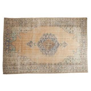 "Vintage Distressed Oushak Carpet - 7'1"" X 10'7"" For Sale"