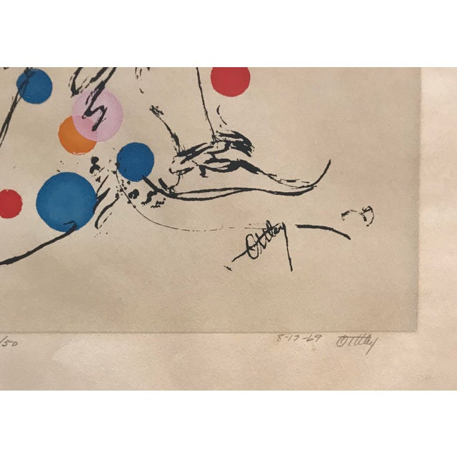 "1969 Mid-Century Modern ""Jester"" Serigraph by Ottley Schonberger For Sale - Image 4 of 6"