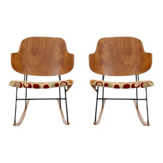 "Mid-Century Modern Kofod-Larsen ""Penquin"" Rocking Chairs - a Pair For Sale"