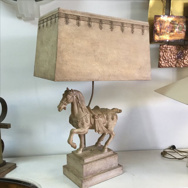1940s Plaster Lamp of Imperial Horse - Image 3 of 8
