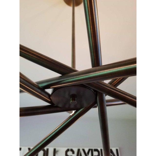 "Art Deco Blueprint Lighting ""Nest"" Oil-Rubbed Bronze Finish Chandelier For Sale - Image 3 of 8"