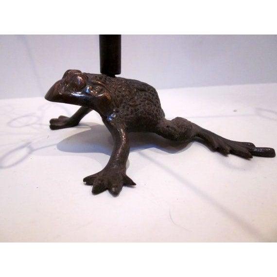 Vintage Hollywood Regency Brass Frog - Image 3 of 6