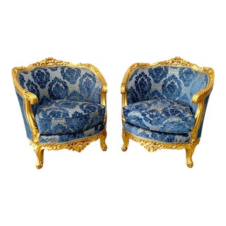 Vintage 1900's French Louis XVI Chairs- A Pair For Sale
