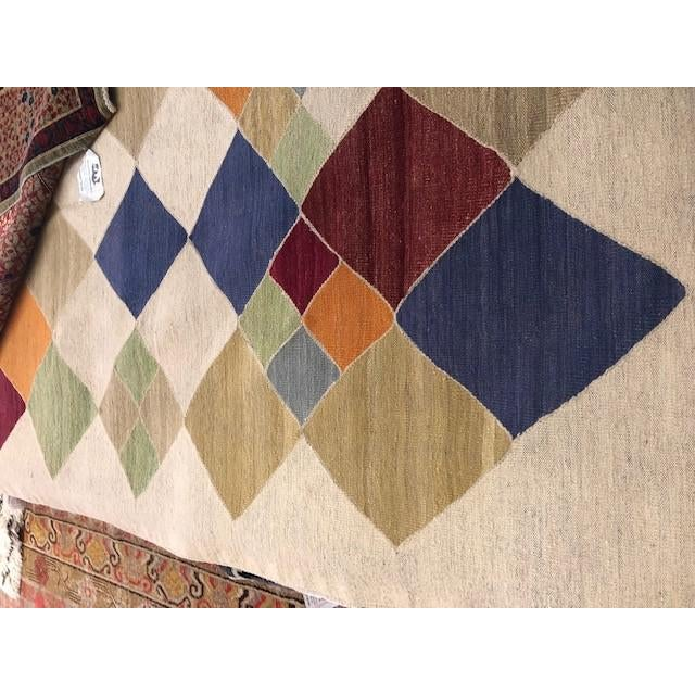 """Aara Rugs Inc. Modern Hand Knotted Kilim - 13'0"""" X 10'8"""" For Sale - Image 4 of 5"""