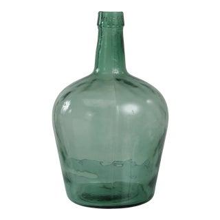 Antique Spanish Viresa Carboy Green Glass Demijohn Bottle For Sale