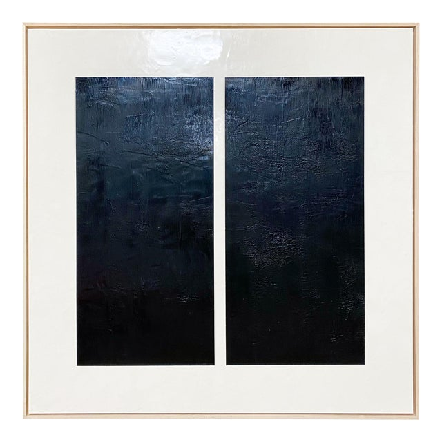 """Exclusive John O'Hara """"Midnight Window, 1"""" Encaustic Painting For Sale"""