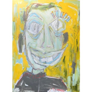 The People You Meet Contemporary Abstracted Face Painting by Sarah Trundle For Sale