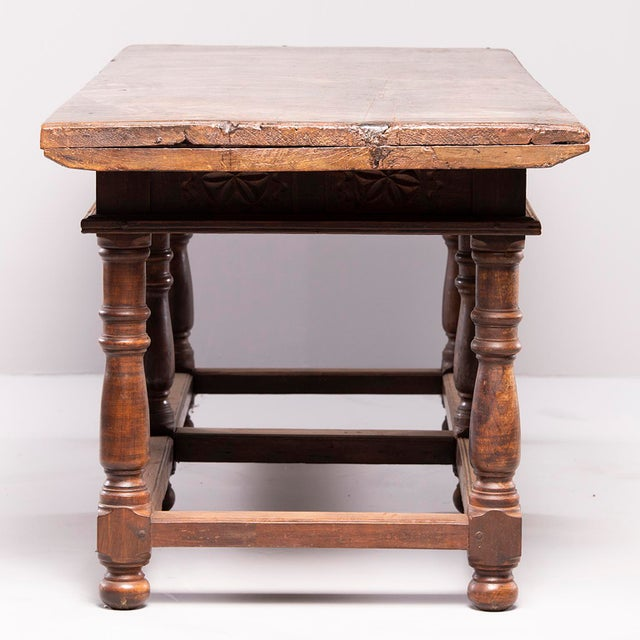 Portuguese All Original 18th Century Carved Walnut Table For Sale - Image 10 of 13