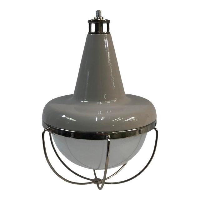 Feiss Livingston 1-Light Caged Ceiling Pendant For Sale