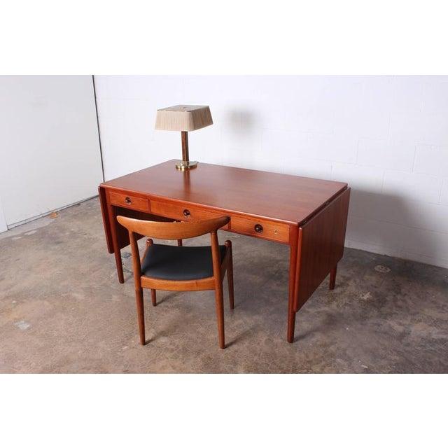 Brown Hans Wegner Drop-Leaf Table Desk AT305 For Sale - Image 8 of 10