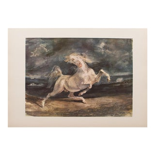 Frightened Horse by Delacroix 1959 Lithograph
