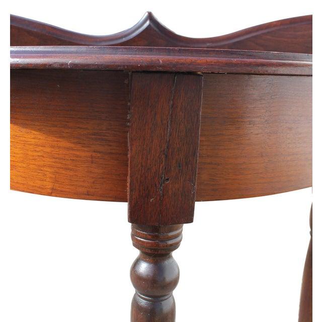 Demi-Lune Mahogany Console Table For Sale In Boston - Image 6 of 12