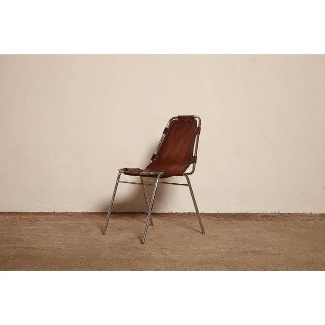 Mid 20th Century Les Arcs' Chairs Selected by Charlotte Perriand, 1970s For Sale - Image 5 of 9