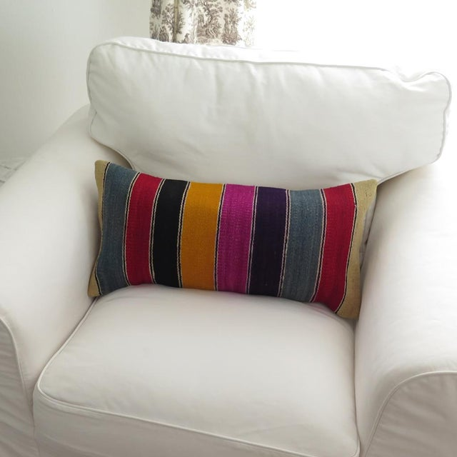 Vintage Striped Kilim Pillow - Image 3 of 7