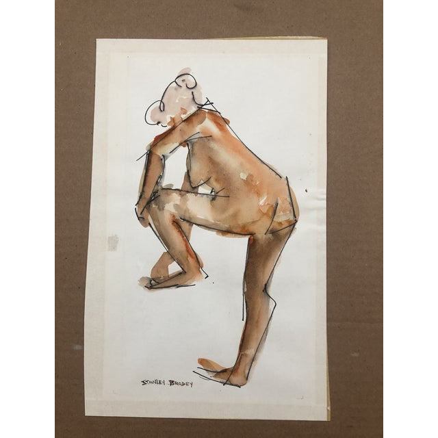 Stanley Brodey (1920-2002) Female Nude From the Side, signed lower left