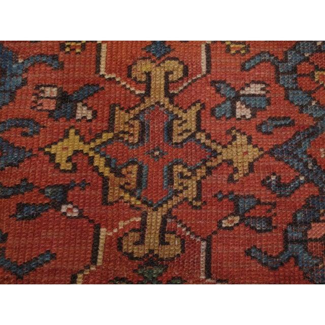 Blue Antique Oushak Carpet For Sale - Image 8 of 8