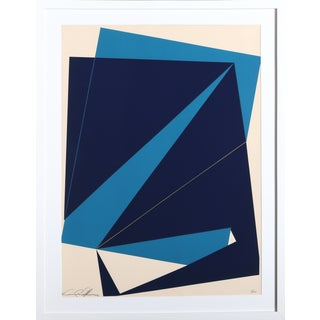 Cris Cristofaro Navy & Blue Rectangles Silkscreen
