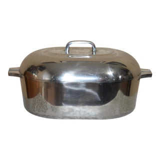 1930s Aluminum Cajon Style Dutch Oven Roaster With Lid For Sale