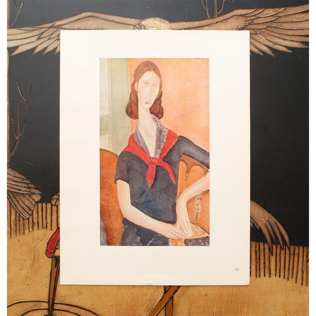"""Portraiture 1947 Amedeo Modigliani """"Madame Hebuterne"""", First Editionl Parisian Lithograph For Sale - Image 3 of 8"""