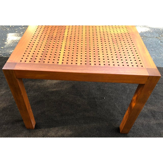 Summit Furniture Teak Square With Grate Top Dining Table
