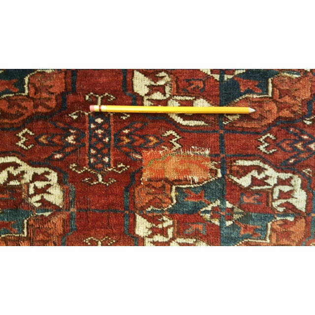 2010s Large Scale Ottoman Upholstered With a Vintage Rug Textile For Sale - Image 5 of 13