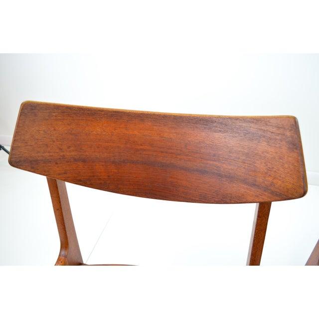 Erik Buck Vintage Danish Modern Teak Dining Chairs - Pair - Image 8 of 9