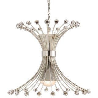 Arteriors Modern Macayle Nickel and Glass Chandelier For Sale