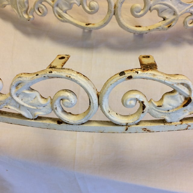 French French Boudoir Metal Bed/Window Crowns - Set of 2 For Sale - Image 3 of 10