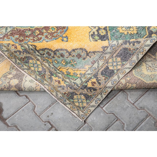 1960's Vintage Turkish Hand-Knotted Wide Long Runner-4′7″ × 12′10″ For Sale - Image 6 of 11