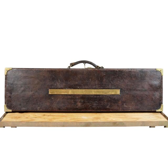 Regency Leather Gun Case on Base For Sale - Image 4 of 12