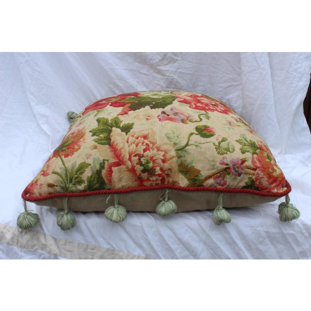 2000 - 2009 English Traditional Floral Down Pillow For Sale - Image 5 of 10