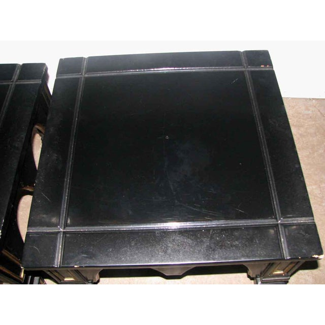 Ebonized Gothic Style End Tables - A Pair For Sale - Image 5 of 10